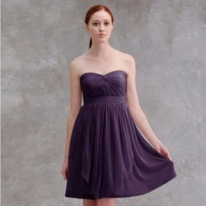 Jenny Yoo Keira Strapless Chiffon Dress